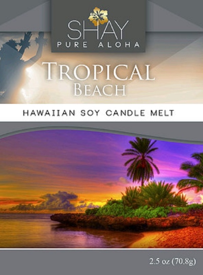 Tropical Beach Wickless Soy Candle Melts - Shay Pure Aloha Inc