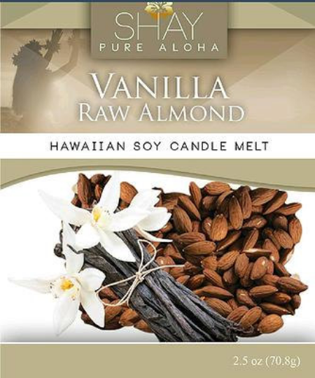 Vanilla Raw Almond Wickless Soy Candle Melts