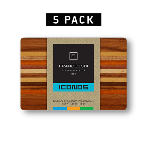 Quíbor Wooden Box - Dark Collection Assorment - 5 pack - Franceschi Chocolate Store