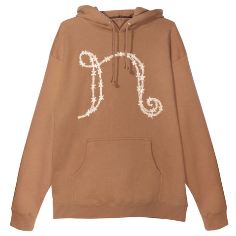 "Barbed Wire ""N"" Hoodie (Saddle Brown)"