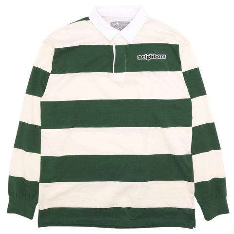 Wordmark Striped Rugby (Cream/Green)