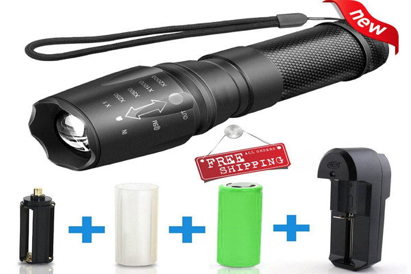 G700 LED Telescopic Zoom Military Tactical Led Flashlight