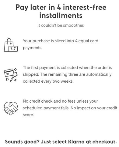 Klarna. Deferred Payment Options