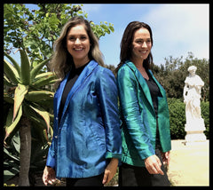 Women's Blazers Made with Jacquard Cupro