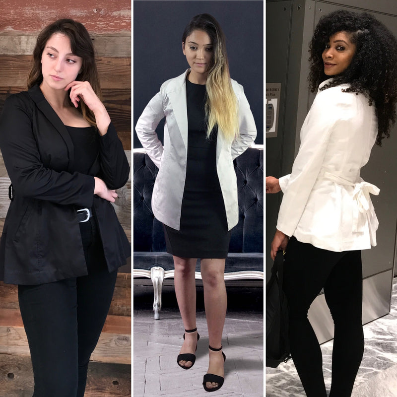Organic Cotton Women's Blazer in Various Colors - Sustainable Fashion - Ethical Brand - Sustainable Women's Blazer - Bespoke Women's Blazers - Plus Size Clothing