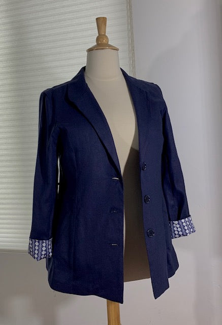 """The Artist"" Women's Blazer (Unique Linings with Watercolor Artwork)"