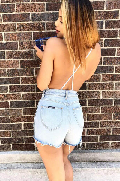 Rolla's Farrah High-Waisted Distressed Cutoff Shorts
