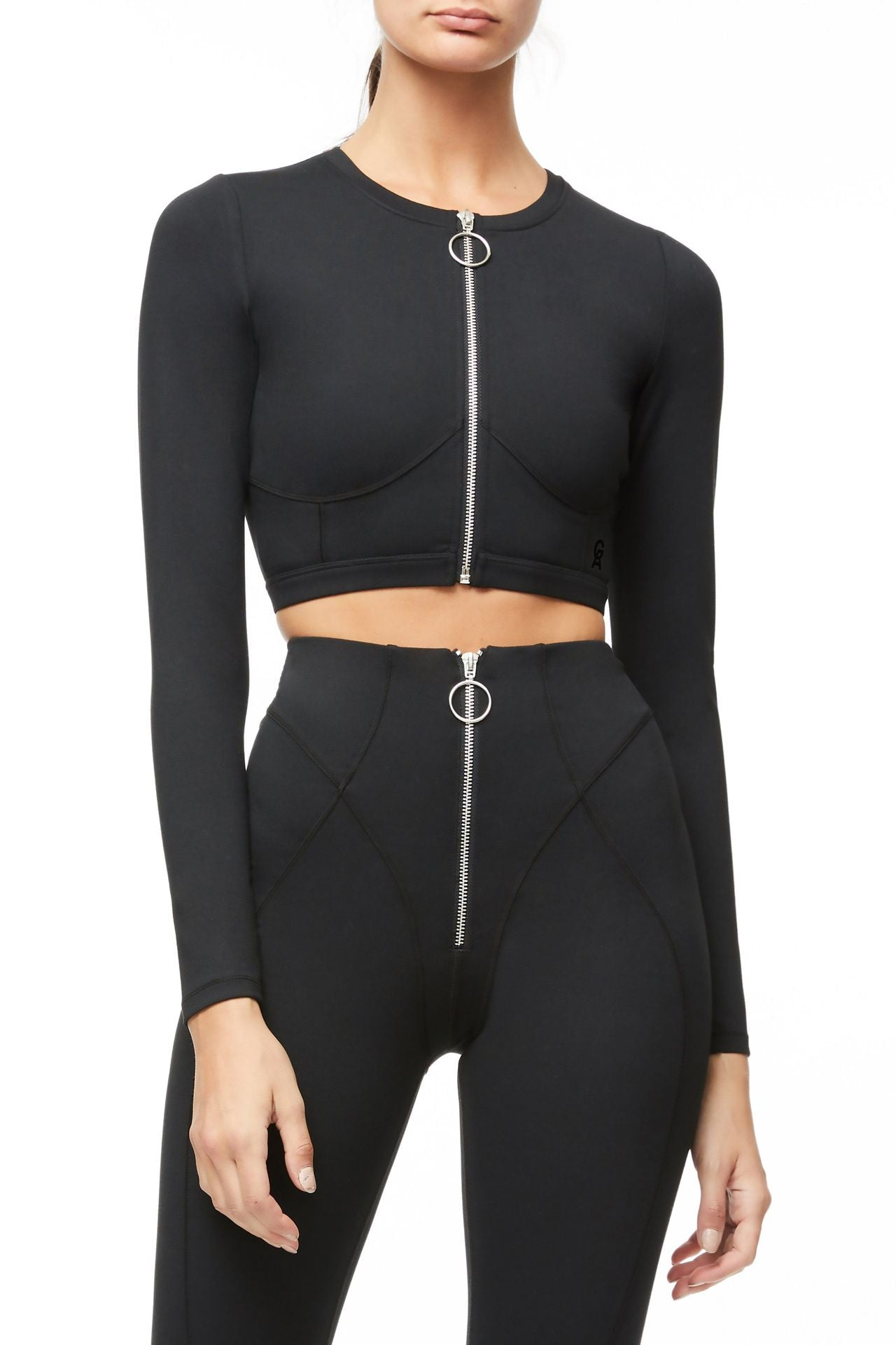 The Warrior Zip Crop Top