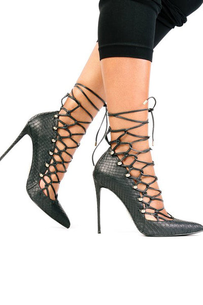 Lust For Life Pistol Lace Up Heel