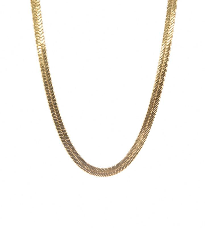 CAM Flat Snake Chain Necklace