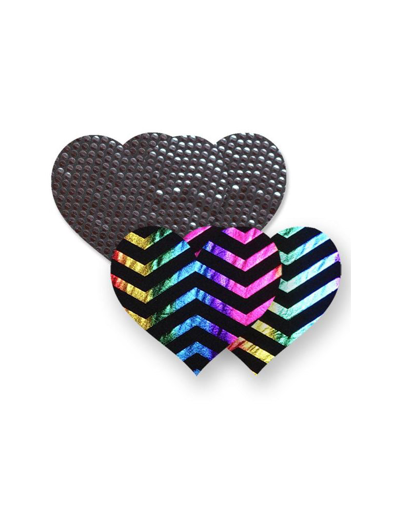 Midnight Rainbow Heart Nippies