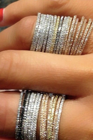 Sparkles on Sparkles Layering Rings