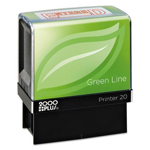 2000 PLUS Green Line Message Stamp, Entered, 1 1-2 X 9-16, Red-COSCO 2000PLUS®-Omni Supply