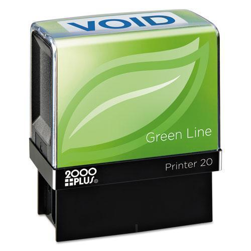 2000 PLUS Green Line Message Stamp, Void, 1 1-2 X 9-16, Blue-COSCO 2000PLUS®-Omni Supply