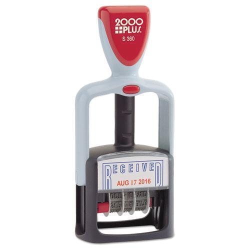"2000 PLUS Two-Color Word Dater, 1 3-4 X 1, ""received"", Self-Inking, Blue-red-COSCO 2000PLUS®-Omni Supply"