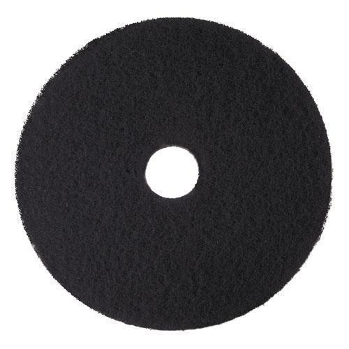 "3M Low-Speed High Productivity Floor Pads 7300, 18"" Diameter, Black, 5-carton-3M™-Omni Supply"