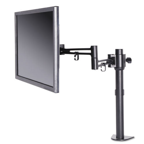Alera ADAPTIVERGO POLE-MOUNTED MONITOR ARM, SINGLE MONITOR UP TO 30