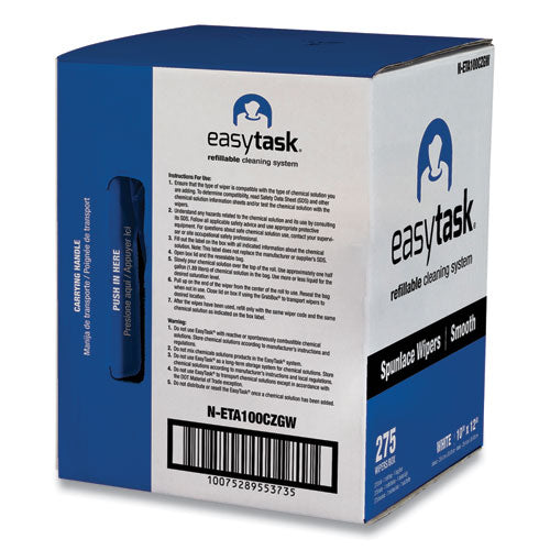 Easy Task A100 Wiper, Center-pull, 10 X 12, 275 Sheets-roll With Zipper Bag