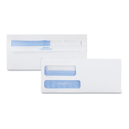 QualityPrk 2-Window Redi-Seal Security-Tinted Envelope, #9, 3 7-8 X 8 7-8, White, 500-box