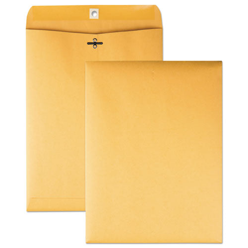 QualityPrk Clasp Envelope, 9 X 12, 32lb, Brown Kraft, 100-box