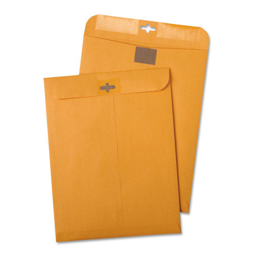 QualityPrk Postage Saving Clearclasp Kraft Envelopes, #55, 6 X 9, Brown Kraft, 100-box