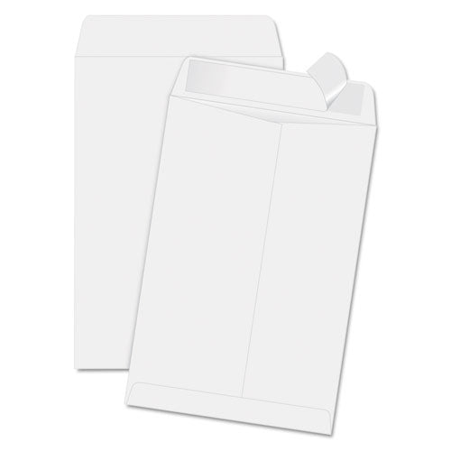 QualityPrk Redi Strip Catalog Envelope, 6 1-2 X 9 1-2, White, 100-box