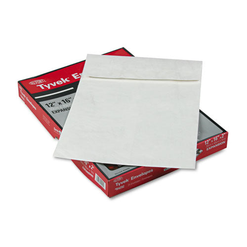 SURVIVOR Tyvek Expansion Mailer, 12 X 16 X 2, White, 25-box