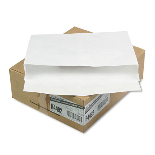 SURVIVOR Tyvek Booklet Expansion Mailer, 12 X 16 X 2, White, 18lb, 100-carton