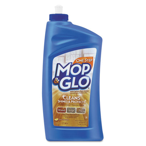 MOPandGLO Triple Action Floor Cleaner, Fresh Citrus Scent, 32 Oz Bottle