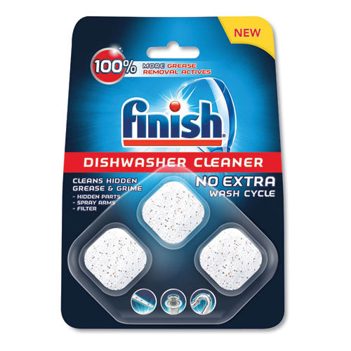 FINISH DISHWASHER CLEANER POUCHES, ORIGINAL SCENT, POUCH, 24 TABS-POUCH, 8-CT