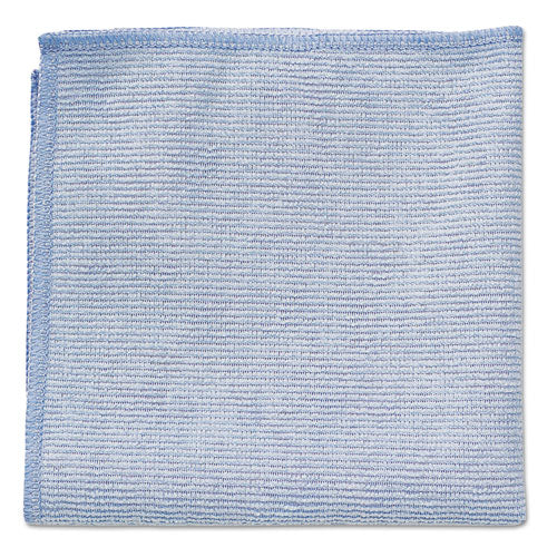 Rubbermaid Microfiber Cleaning Cloths, 12 X 12, Blue, 24-pack