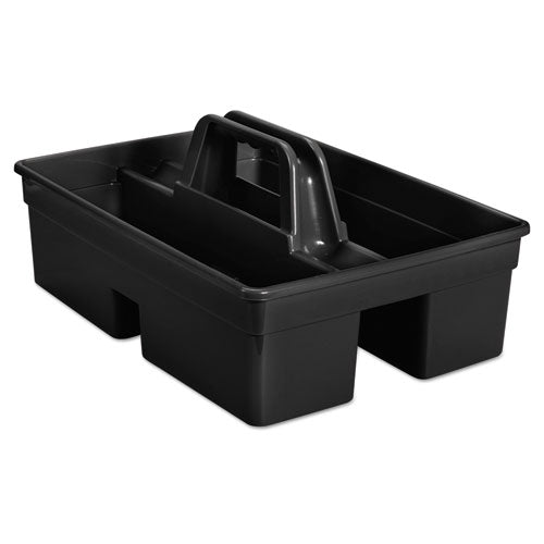 "Rubbermaid Executive Carry Caddy, 2-Compartment, Plastic, 10 3-4""w X 6 1-2""h, Black"