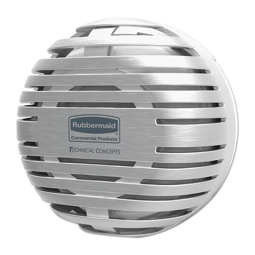 "Rubbermaid Tcell Dispenser, 4.09"" Diameter X 2.36"", Brushed Chrome"