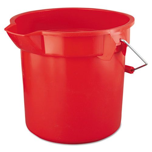 Rubbermaid Brute Round Utility Pail, 14qt, Red
