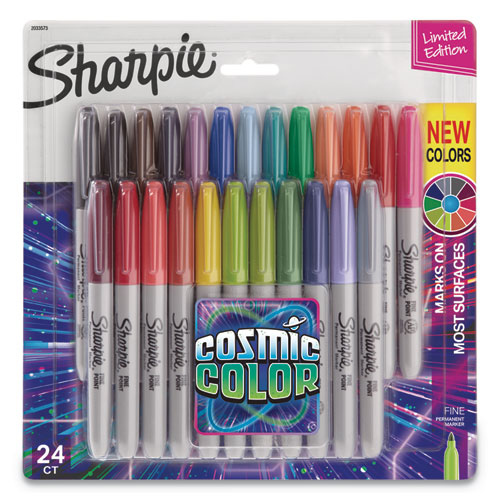 Sharpie COSMIC COLOR PERMANENT MARKERS, BULLET TIP, ASSORTED, 24-PACK