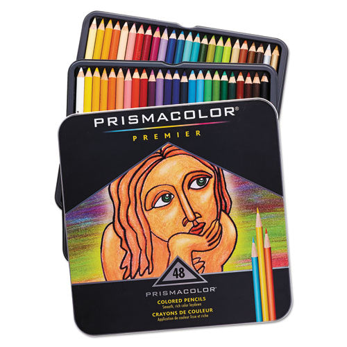 Prismaclor Premier Colored Woodcase Pencils, 48 Assorted Colors-set
