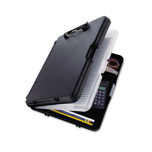 "Saunders Workmate Ii Storage Clipboard, 1-2"" Capacity, Holds 8-1-2w X 12h, Black-charcoal"