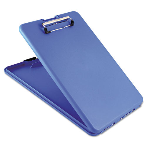 "Saunders Slimmate Storage Clipboard, 1-2"" Clip Cap, 8 1-2 X 11 Sheets, Blue"