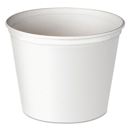 Dart Double Wrapped Paper Bucket, Waxed, White, 83oz, 100-carton