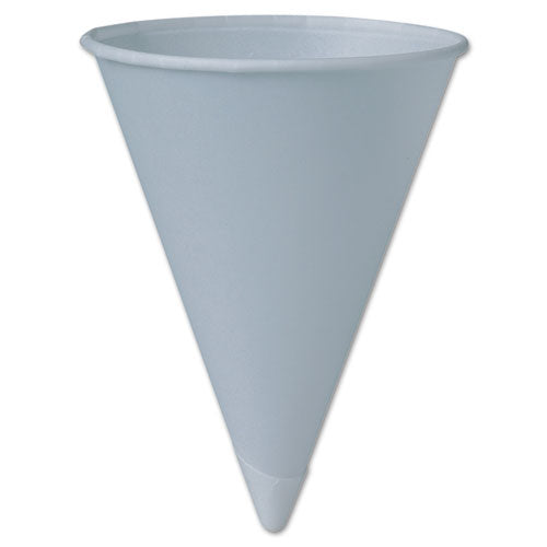 Dart Bare Treated Paper Cone Water Cups, 6 Oz, White, 200-sleeve, 25 Sleeves-carton