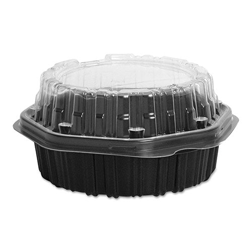 "Dart CREATIVE CARRYOUTS HINGED PLASTIC HOT DELI BOXES, 6.3"" X 6.1"" X 3.1"", 200-CT"
