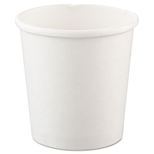 Dart Flexstyle Double Poly Paper Containers, 16oz, White, 25-pack, 20 Packs-carton