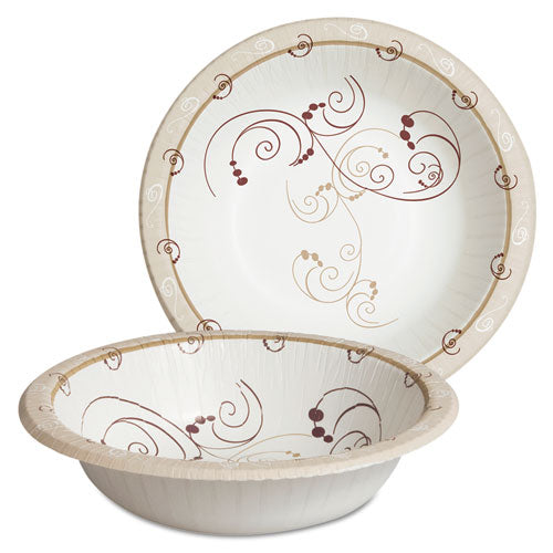 Dart Symphony Paper Dinnerware, Heavyweight Bowl, 12oz, Tan, 125-pack
