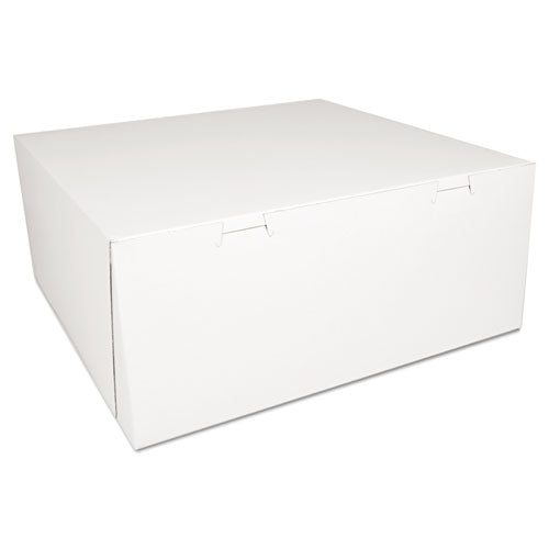 SCT Bakery Boxes, White, Paperboard,14 X 14 X 6, 50-carton