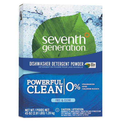 SeventhGen Natural Automatic Dishwasher Powder, Free & Clear, 45oz Box