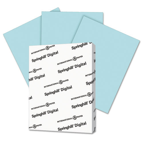 Springhill Digital Index Color Card Stock, 110 Lb, 8 1-2 X 11, Blue, 250 Sheets-pack
