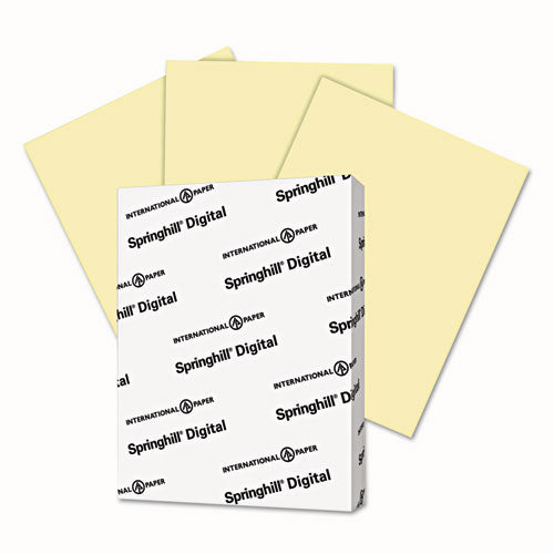Springhill Digital Vellum Bristol Color Cover, 67 Lb, 8 1-2 X 11, Canary, 250 Sheets-pack