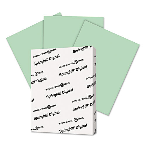 Springhill Digital Vellum Bristol Color Cover, 67 Lb, 8 1-2 X 11, Green, 250 Sheets-pack