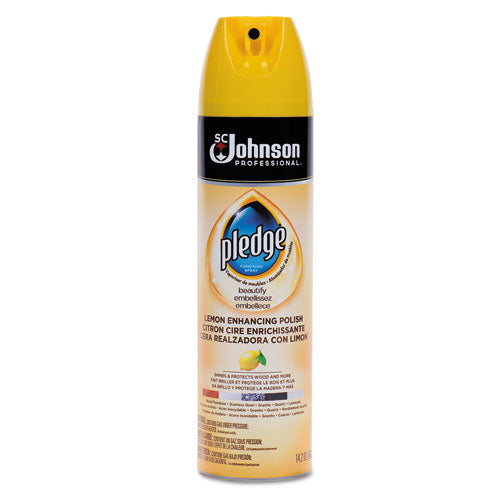 Pledge FURNITURE POLISH, LEMON, 14.2 OZ, AEROSOL, 6-CARTON