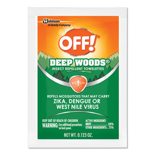 OFF! Deep Woods Towelettes, 12-box, 12 Boxes Per Carton